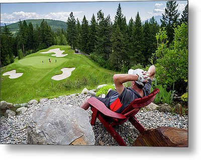 Metal Print featuring the photograph Play Through Or Enjoy The View by Darcy Michaelchuk