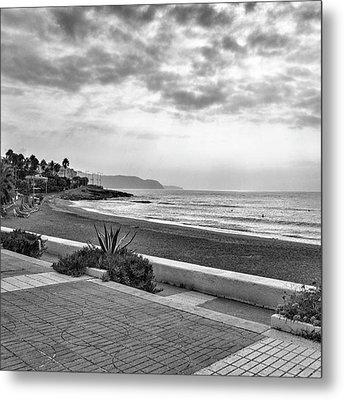 Playa Burriana, Nerja Metal Print by John Edwards