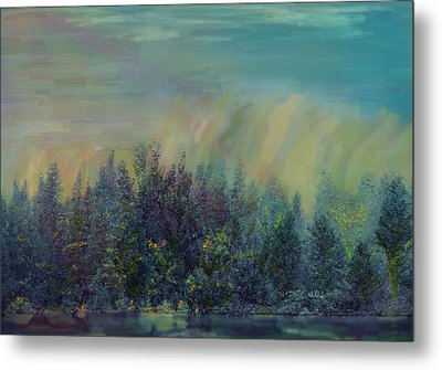 Playful Colorful Morning Metal Print by Angela A Stanton
