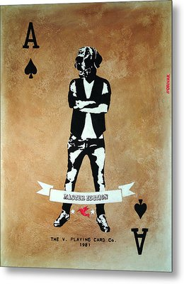 Playing Card - Master Edition Metal Print by Vagelis Karathanasis