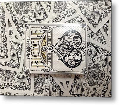 Playing Cards Metal Print by Sheila Mcdonald