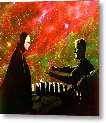 Playing Chess With Death Metal Print by Matthew Lacey