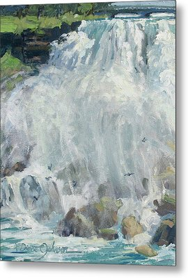 Playing In The Mist - Niagara Falls Metal Print by L Diane Johnson
