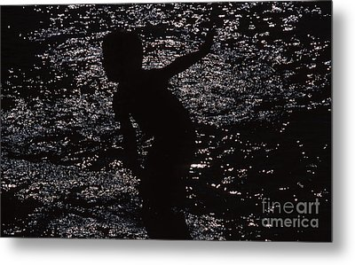 Metal Print featuring the photograph Playing In The Water by Edward R Wisell