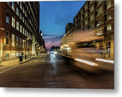 Metal Print featuring the photograph Playing In Traffic by Randy Scherkenbach