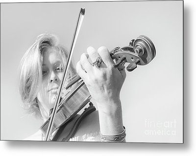 Metal Print featuring the photograph Playing Me Softly by Bob Christopher