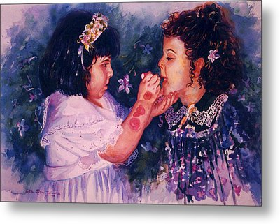 Playing To Be A Woman Metal Print by Estela Robles
