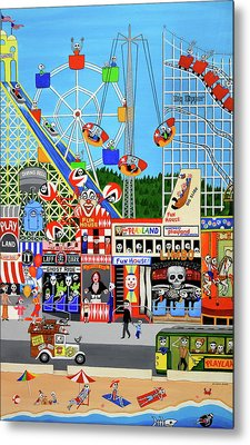Playland In The Afterlife Metal Print