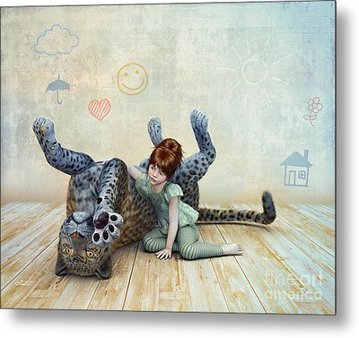 Playmate Metal Print