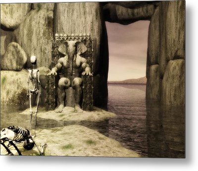 Metal Print featuring the digital art Plea Of The Penitent To The Lord Of Perdition by John Alexander