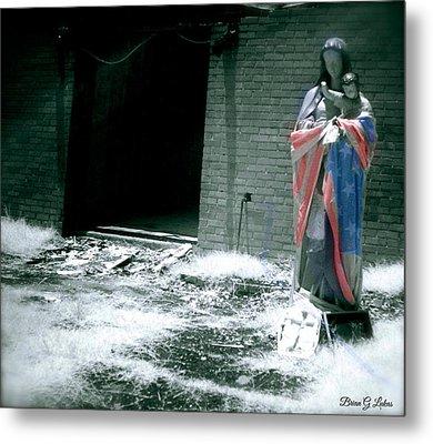 Please Don't Forget Us - Hurricane Katrina Metal Print