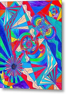 Pleiadian Restore Harmony Light Work Model Metal Print by Teal Eye  Print Store
