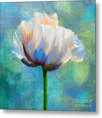 Plein Air Au Printemps Poppy Flower Floral Art Metal Print by Tina Lavoie