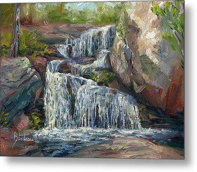 Plein Air - Waterfall Metal Print by Lucie Bilodeau