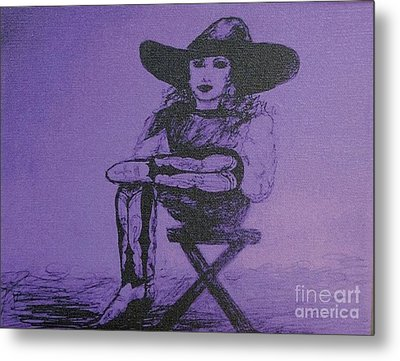 Plum Cowgirl Metal Print by Susan Gahr