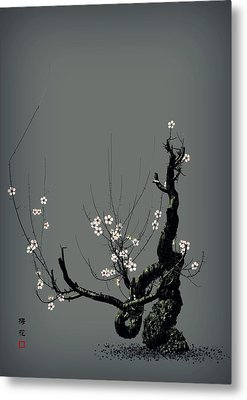 Plum Flower 3 Metal Print by GuoJun Pan