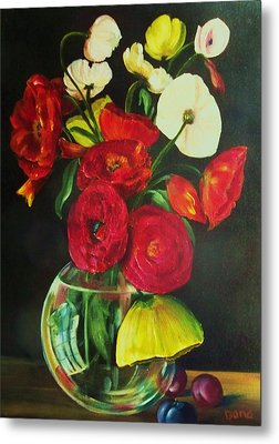 Plum Ranunculus Metal Print by Dana Redfern