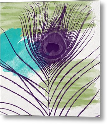 Plumage 2-art By Linda Woods Metal Print by Linda Woods