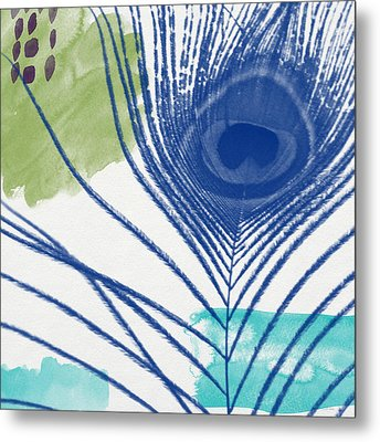 Plumage 3- Art By Linda Woods Metal Print by Linda Woods