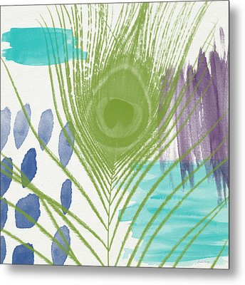 Plumage 4- Art By Linda Woods Metal Print by Linda Woods