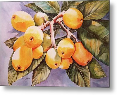 Metal Print featuring the painting Plumb Juicy by Roxanne Tobaison