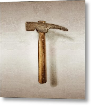 Plumb Masonry Hammer Metal Print by YoPedro