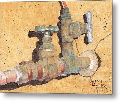 Plumbing Metal Print by Ken Powers