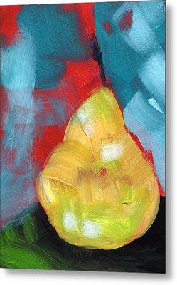 Plump Pear- Art By Linda Woods Metal Print by Linda Woods