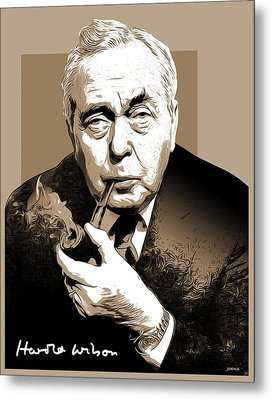 Pm Harold Wilson Metal Print by Greg Joens