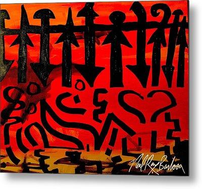 Pmurt Abstract  Metal Print