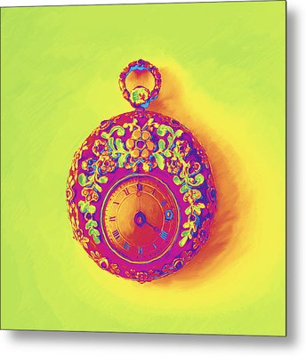 Pocket Watch 1830 Metal Print