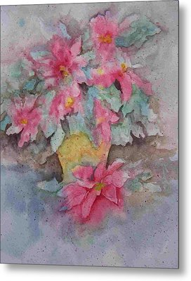 Poinsettias II Metal Print by Sandy Collier