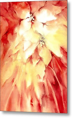 Poinsettias Metal Print by Joan  Jones