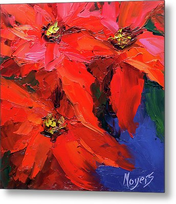 Poinsettias Metal Print by Mike Moyers