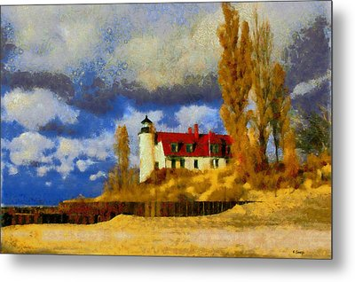 Point Betsie Lighthouse Metal Print by Kai Saarto