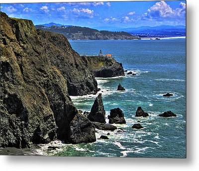 Metal Print featuring the photograph Point Bonita Lighthouse by Richard Stephen