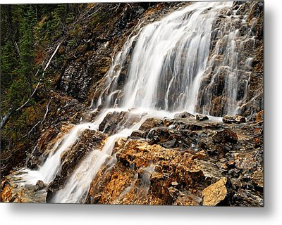 Point Lace Falls 1 Metal Print by Larry Ricker