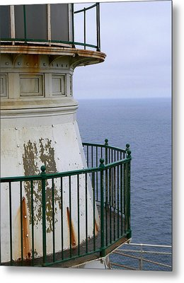 Point Reyes And The Pacific Ocean Metal Print by Laurel Powell