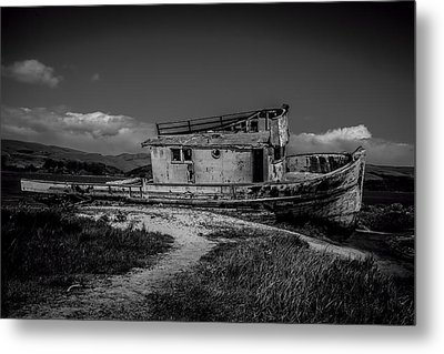 Point Reyes Black And White Metal Print by Garry Gay