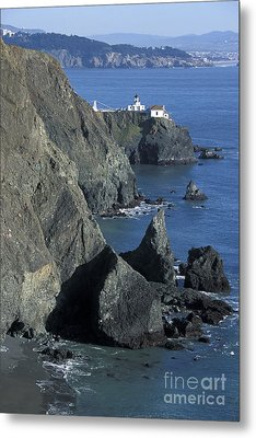 Metal Print featuring the photograph Point Reyes Light by Stan and Anne Foster