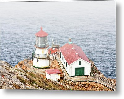 Point Reyes Lighthouse At Point Reyes National Seashore Ca Metal Print by Christine Till