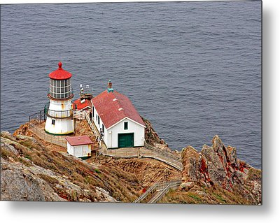 Point Reyes Lighthouse Ca Metal Print