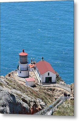 Point Reyes Lighthouse In California 7d15975 Metal Print by Wingsdomain Art and Photography
