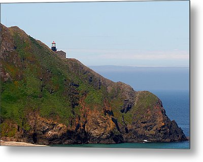 Point Sur Lighthouse Ca  Metal Print by Christine Till