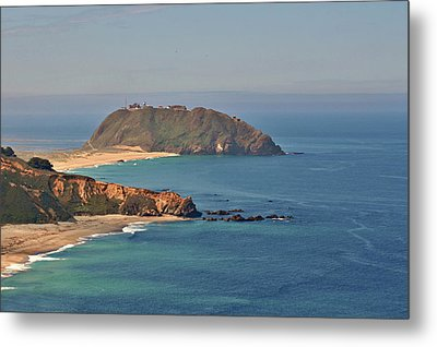 Point Sur Lighthouse On Central California's Coast - Big Sur California Metal Print