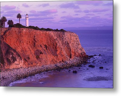 Metal Print featuring the photograph Point Vicente Lighthouse - Point Vicente - Orange County by Photography By Sai