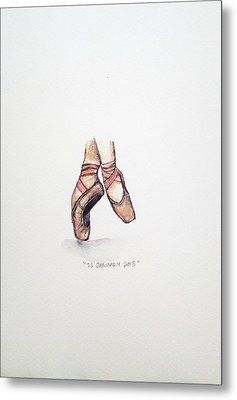 Pointe On Friday Metal Print