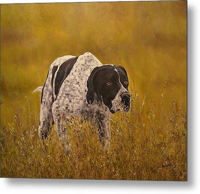 Pointer...to The Point....... Metal Print by Erna Goudbeek