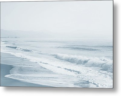 Metal Print featuring the photograph Pointless Nostalgia. Series Ethereal Blue  by Jenny Rainbow