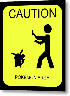 Metal Print featuring the digital art Pokemon Area by Shane Bechler